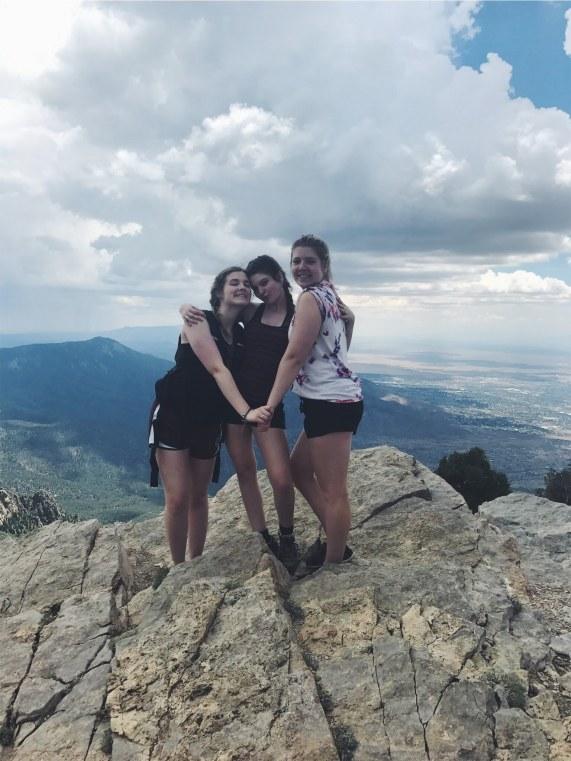 Girls on Sandia Mountain
