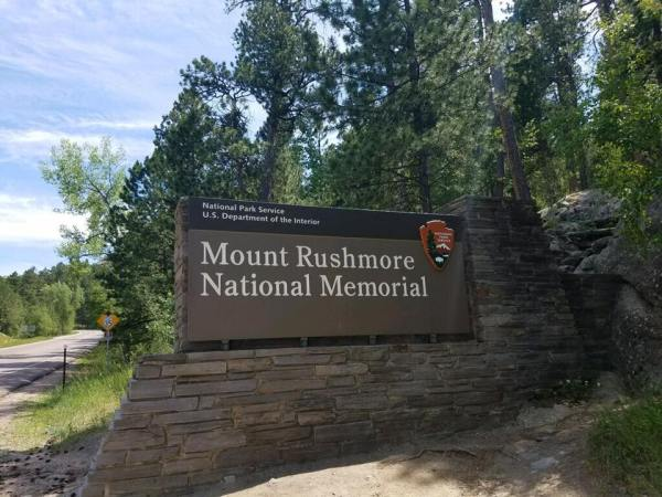 Entering Mount Rushmore